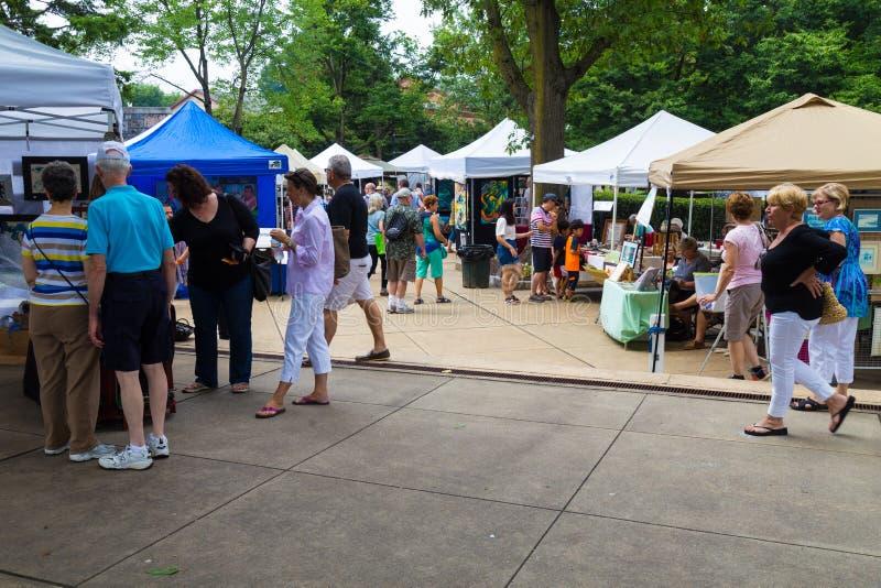 Art Show Takes over Lititz Park royalty free stock photo