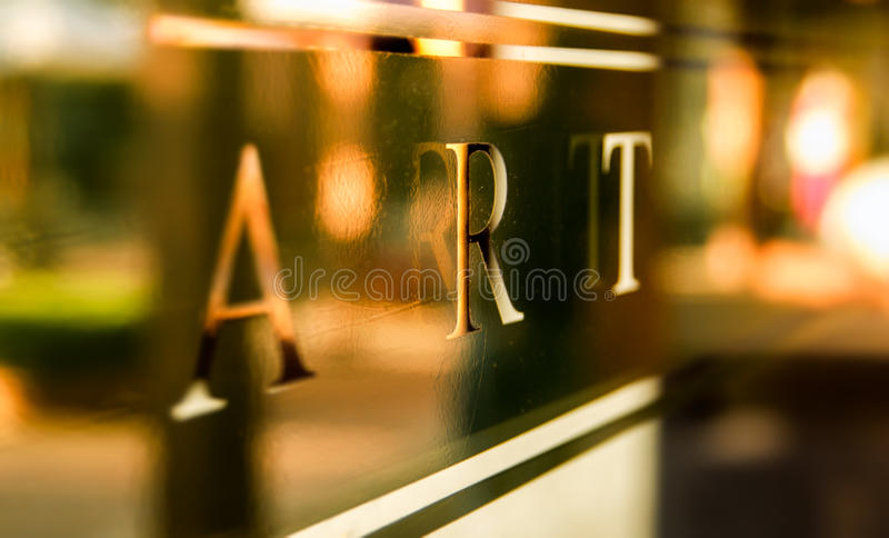 Art sign royalty free stock image