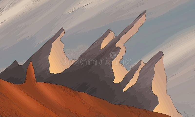 Art simple de volcan d'imagination photographie stock