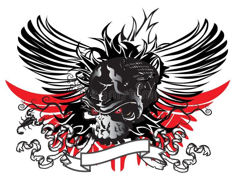 Download Art skull pattern tattoo stock illustration. Image of rock - 28077874