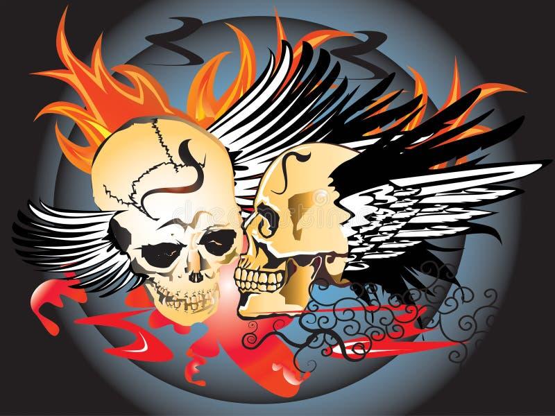 Download Art skull pattern tattoo stock illustration. Image of line - 28077955