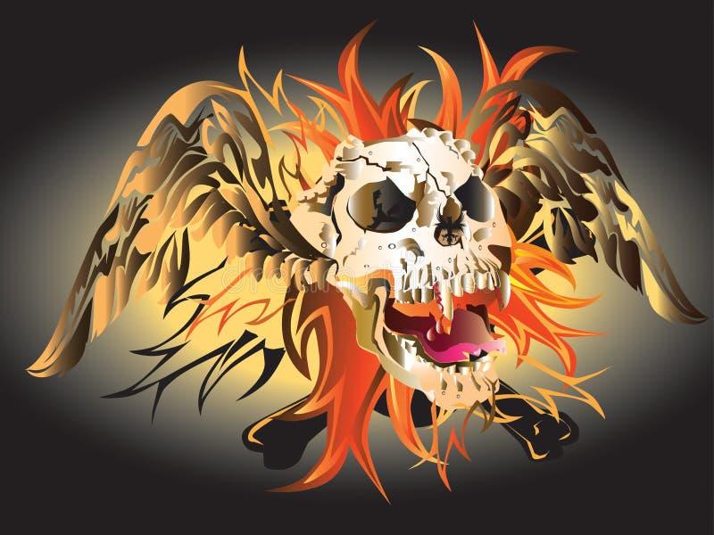 Art Skull Pattern Tattoo Stock Photos