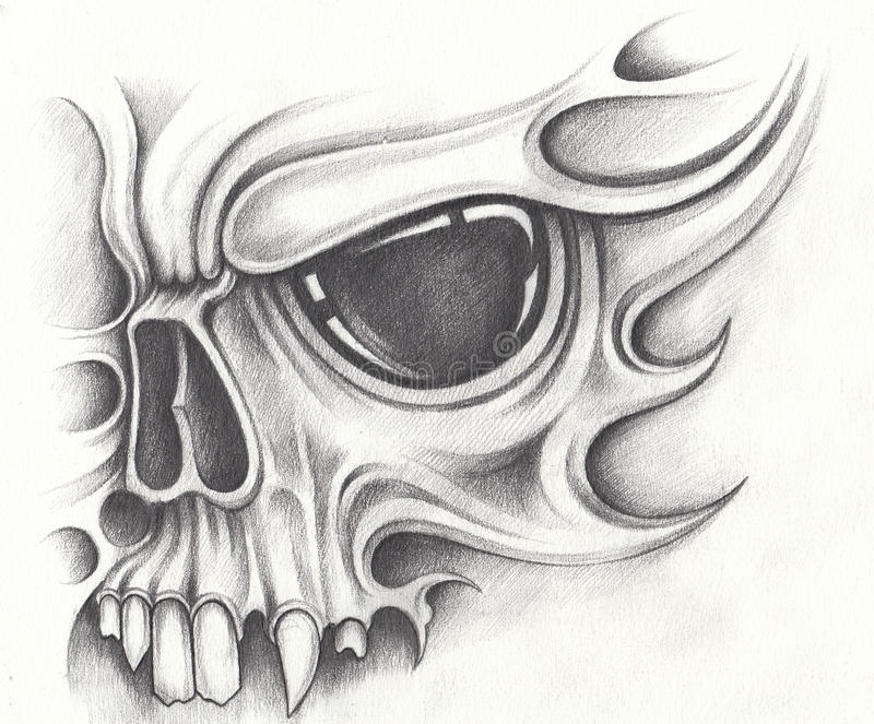 Download art skull tattoo stock illustration illustration of halloween 89974995