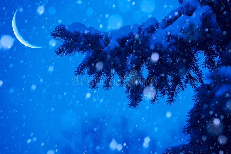 Download Art Snow Christmas Tree Magic Lights Background Stock Image - Image: 28046483