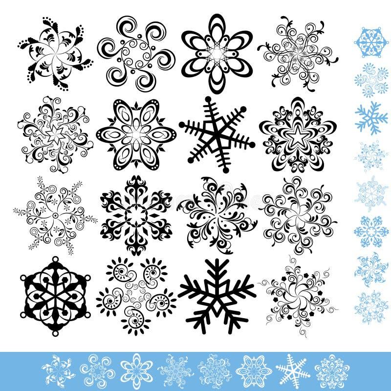 Art Snowflakes Set Stock Photo