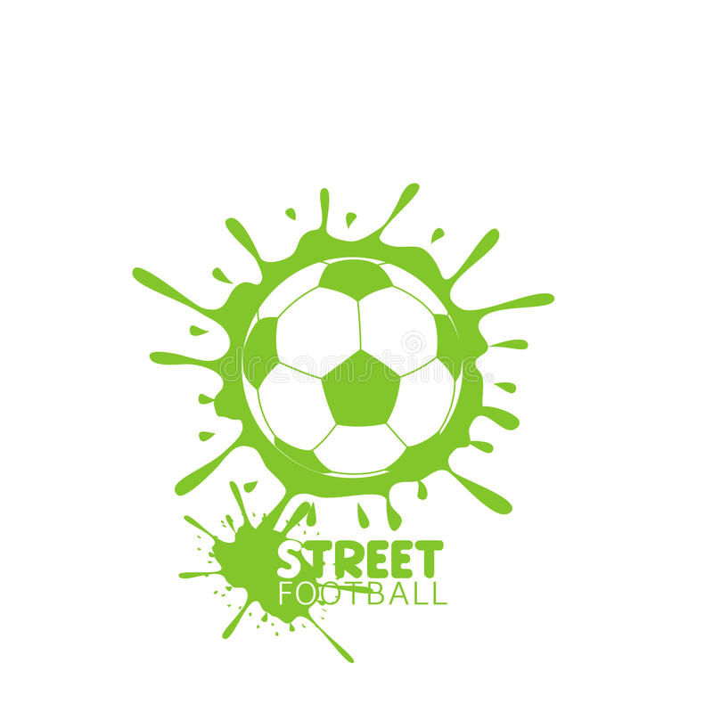 Art Soccer ball vector illustration
