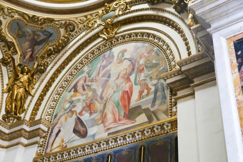 Art of St. Peter Basilica, Vatican stock photography