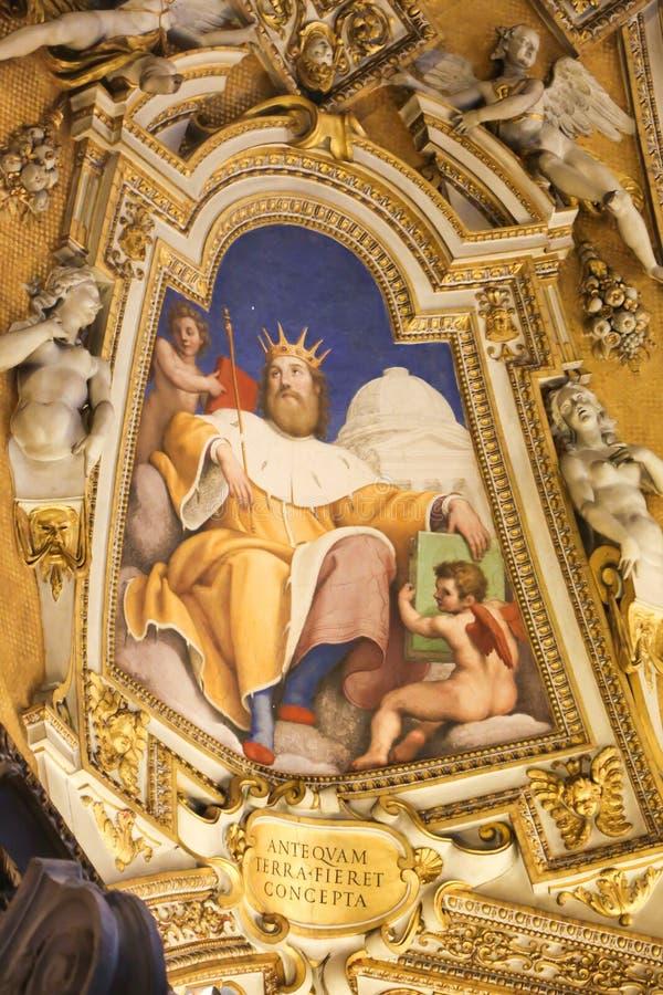 Art of St. Peter Basilica, Vatican stock image