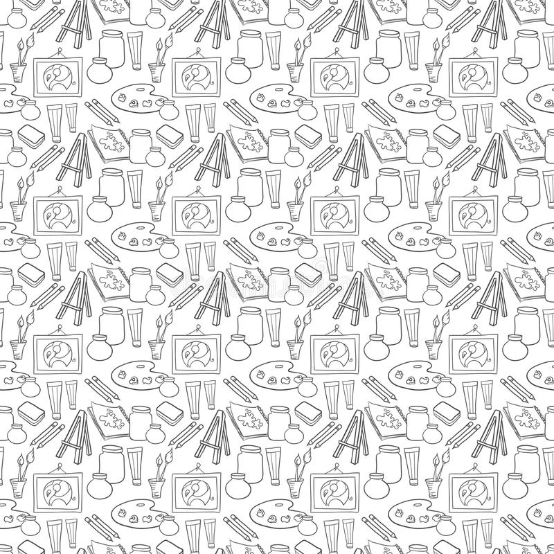 Download Art Stationary Pattern Stock Illustration - Image: 50375705