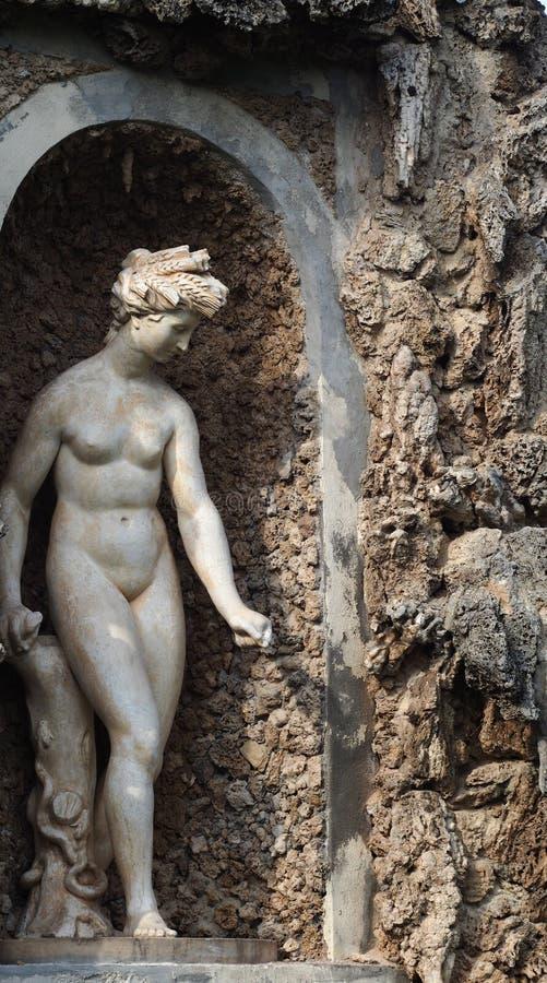 Art statue at Villa Litta inerior royalty free stock photos