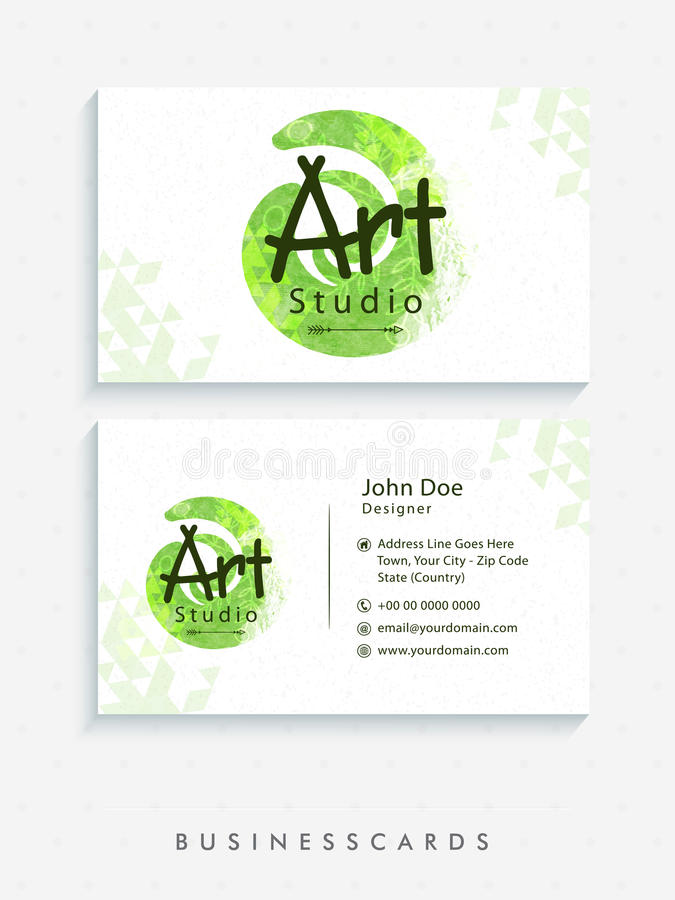 Art Studio Business Card Set. Stock Image - Image of horizontal ...