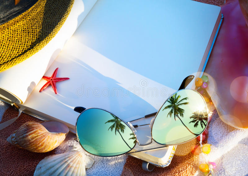 Art Summer concept of summer beach holiday royalty free stock images
