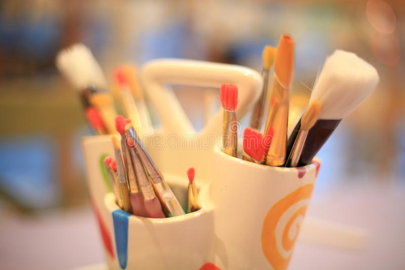 Art supplies for painting royalty free stock images