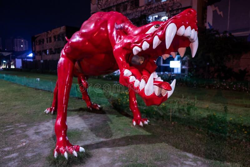 Art sur les rues de Kaohsiung la nuit photos stock