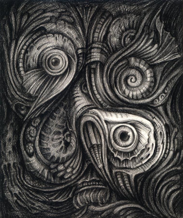 Art Surreal Under havet stock illustrationer