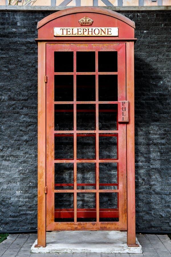 Art-Telefonzelle der Weinlese englische britische lizenzfreie stockfotografie