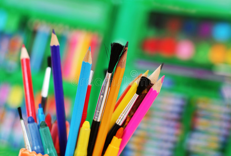 Download Art tools stock image. Image of crayons, colored, paint - 2498227