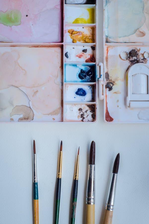 Art tools. royalty free stock photo