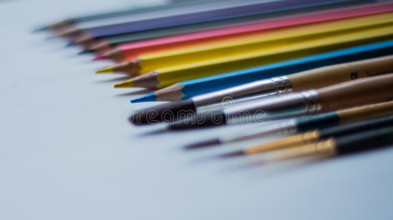 Art tools. royalty free stock images