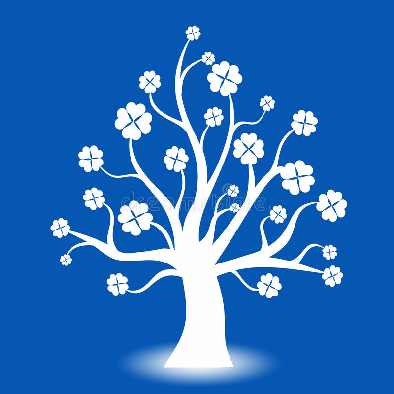 Art tree vector illustration