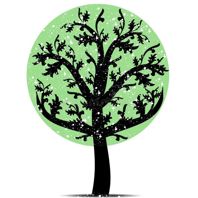 Art tree vector illustration