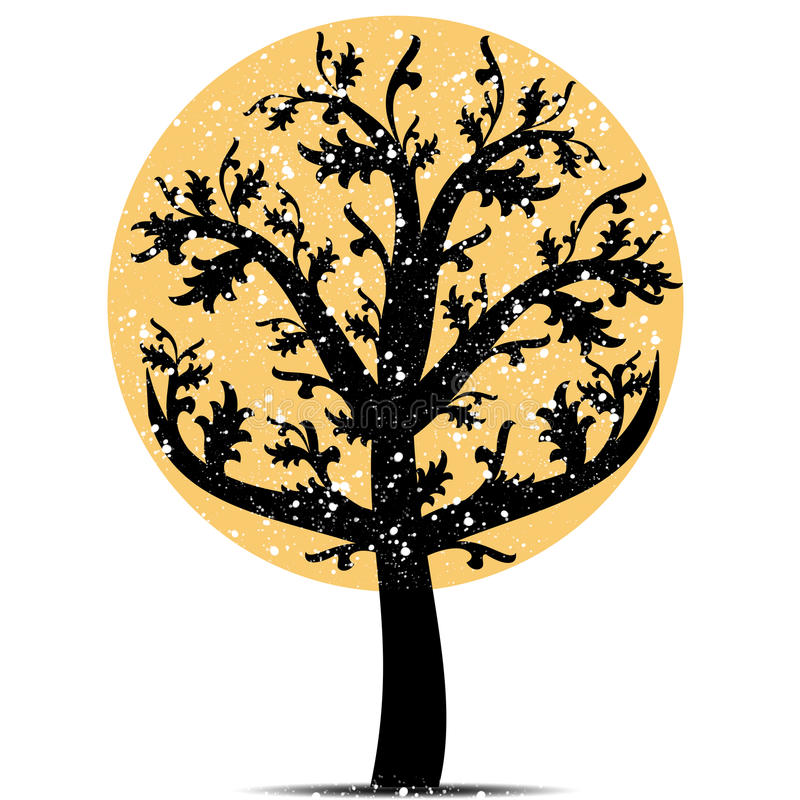 Art tree stock illustration