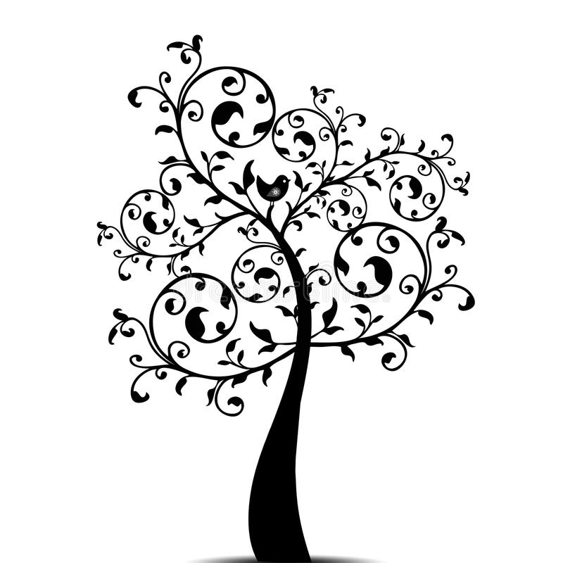 Art tree royalty free illustration