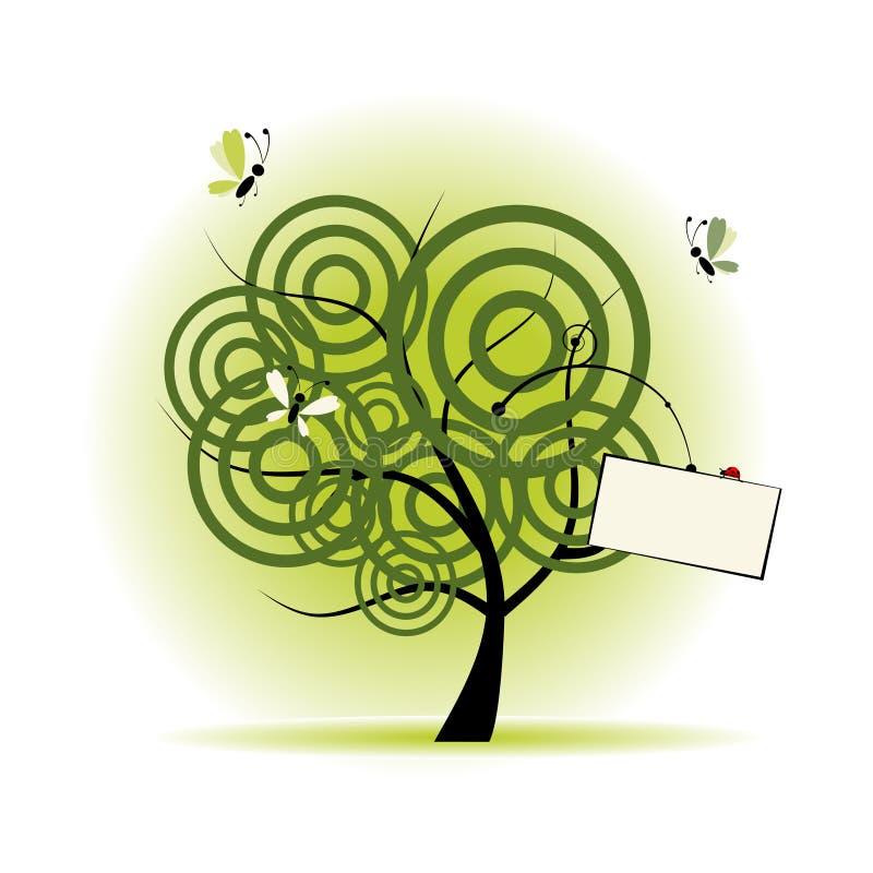 Art tree beautiful vector illustration