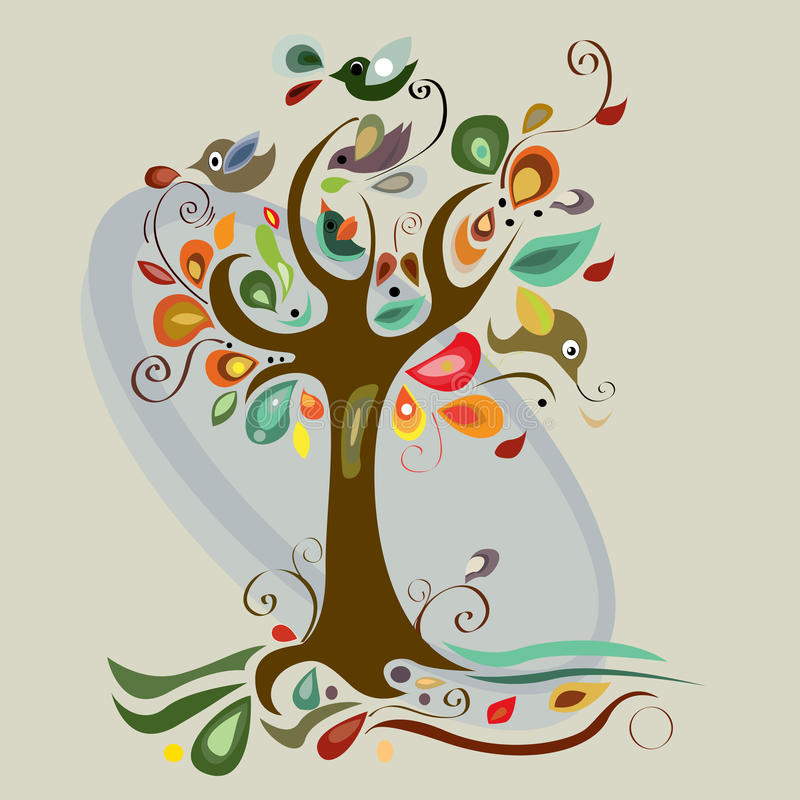 Art tree beautiful stock illustration