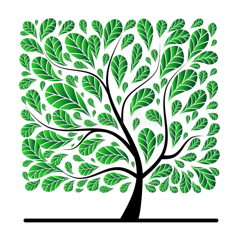 Download Art Tree Beautiful For Your Design Stock Vector - Image: 14868804