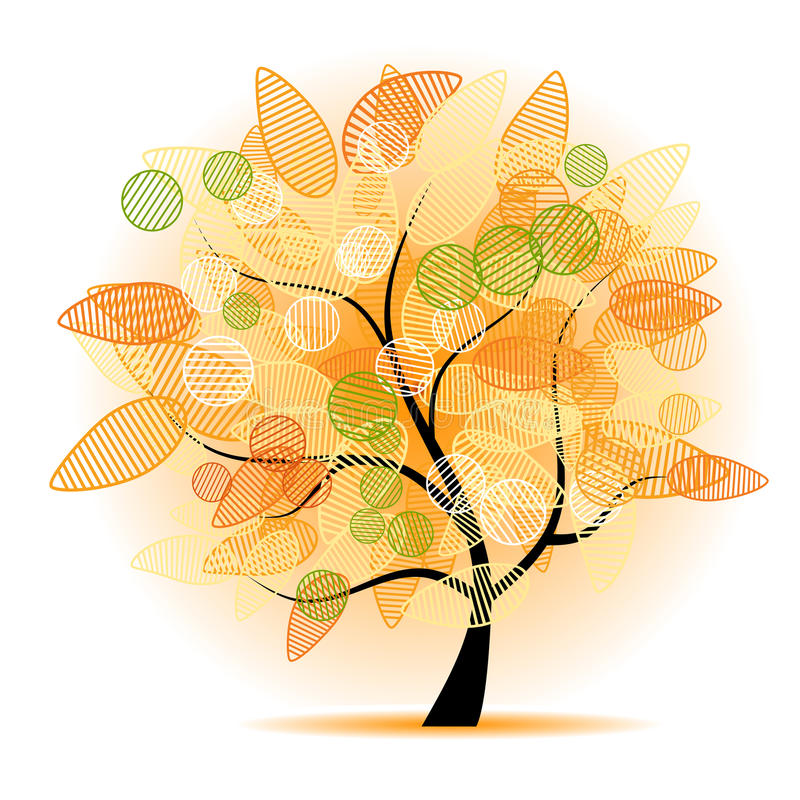 Art tree beautiful for your design vector illustration