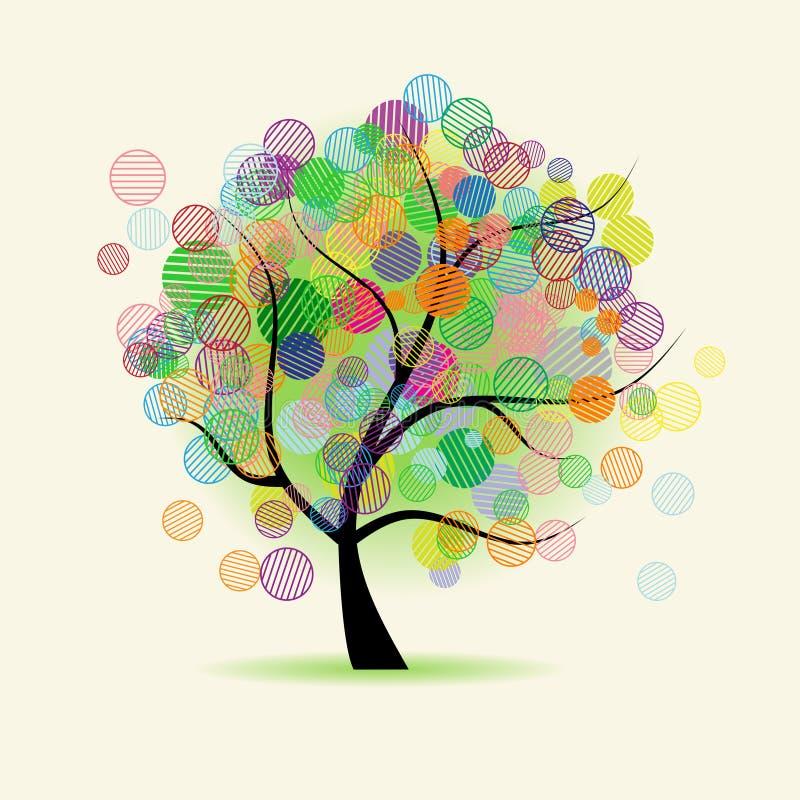 Art tree fantasy. Vector illustrations vector illustration