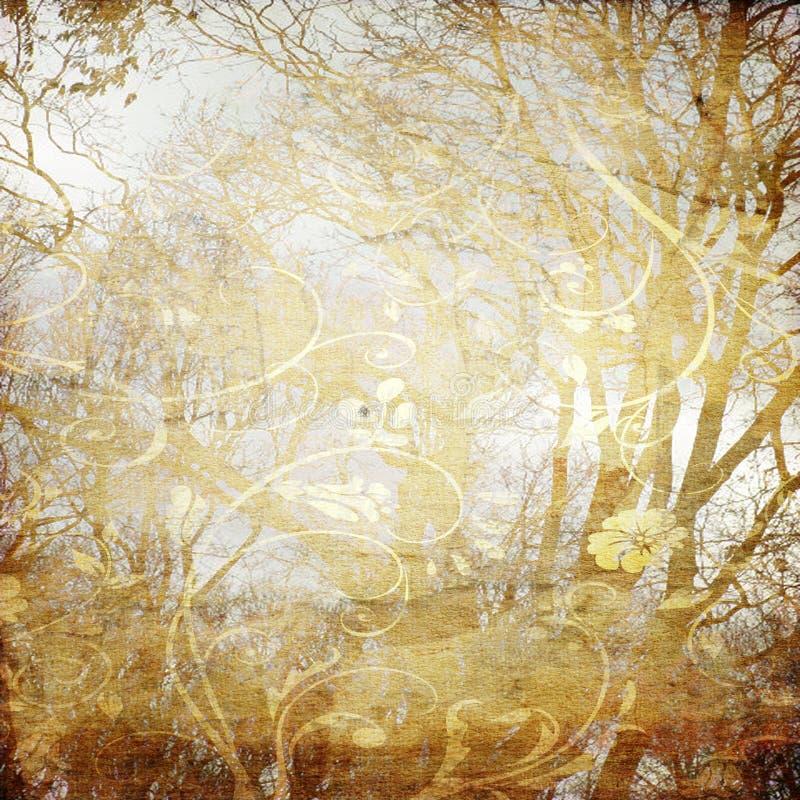 Art tree grunge background