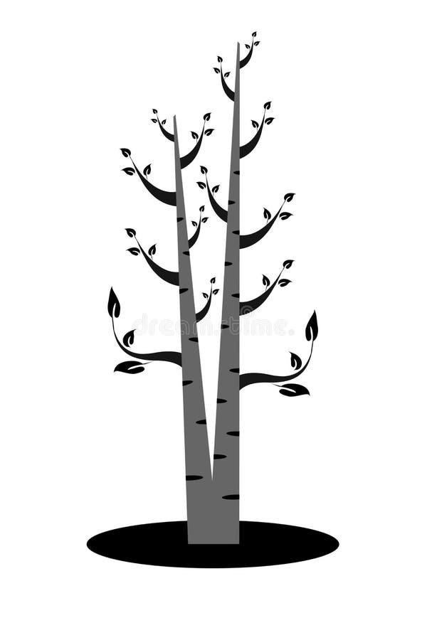 Art Tree Silhouette stock illustrationer