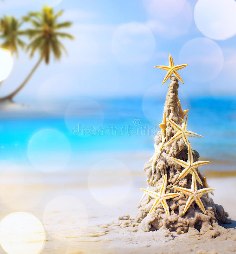 Art tropical Christmas holiday stock photos