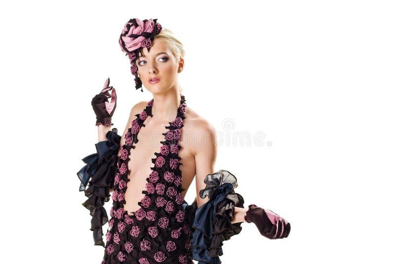 Art und Weisebaumuster in einem stilvollen Kleid lizenzfreies stockbild
