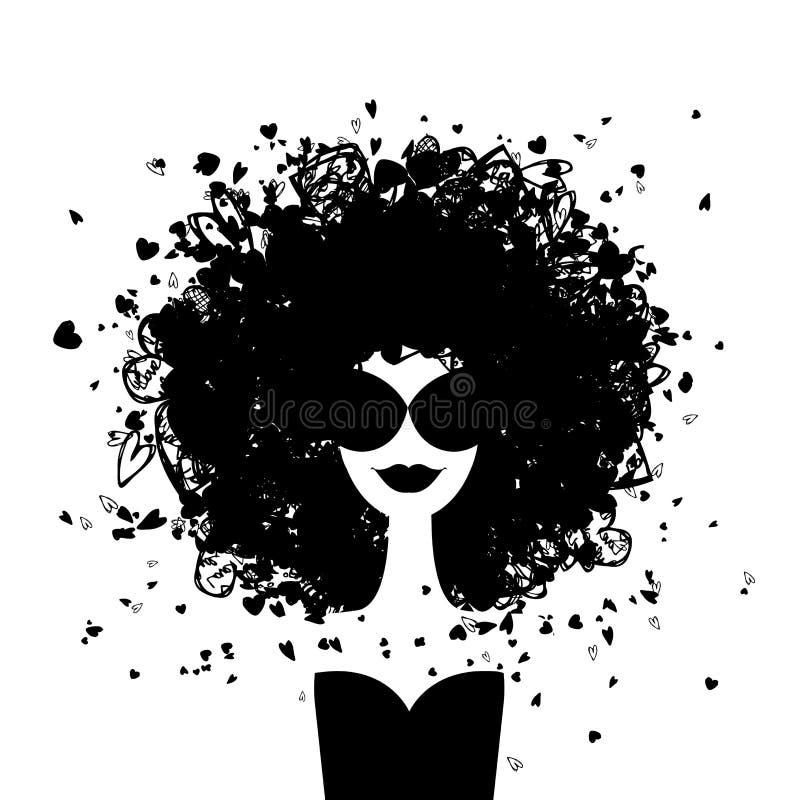 Art und Weisefrauenportrait für Ihre Auslegung stock abbildung