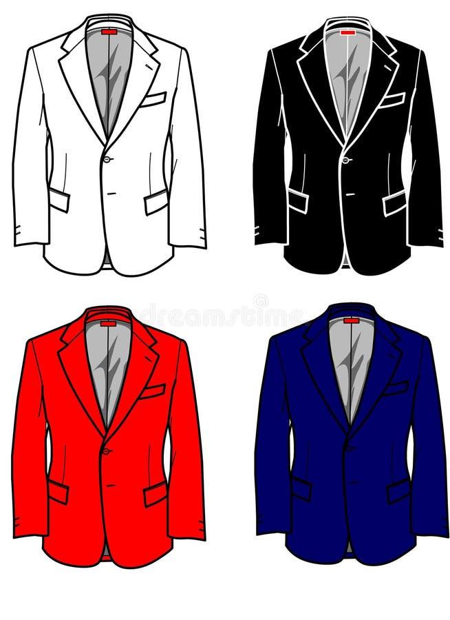 Art- und Weiseplatten-formale Jacke für Mann vektor abbildung