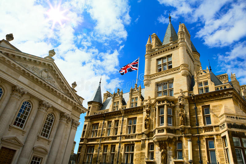 Art University utbildning Cambridge, Förenade kungariket royaltyfria foton