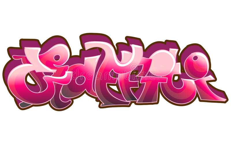 Art urbain de graffiti illustration stock