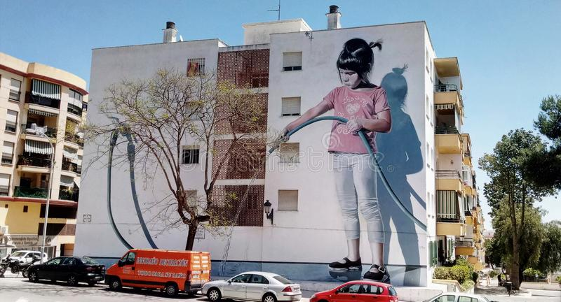 Art urbain de peinture murale photographie stock libre de droits