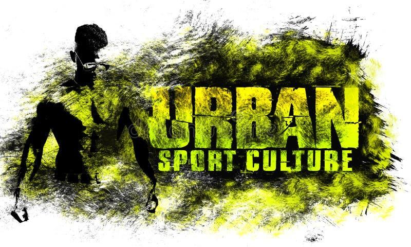 Art urbain de ville Style de graphique de sport de rue Copie élégante de mode Habillement de calibre, carte, label, affiche emblè illustration de vecteur