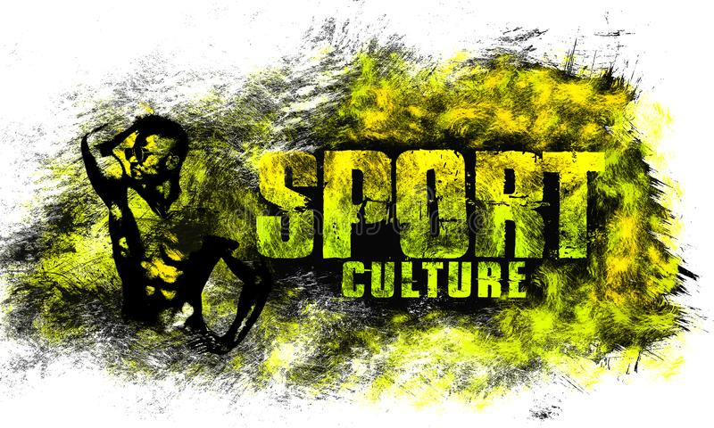 Art urbain de ville Style de graphique de sport de rue Copie élégante de mode Habillement de calibre, carte, label, affiche emblè illustration libre de droits