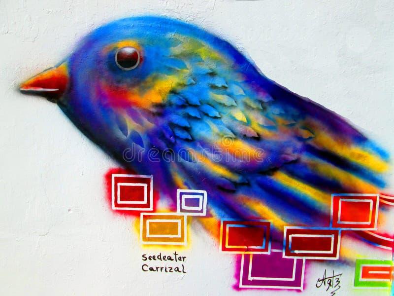 Art urbain Granivore de Carrizal image stock