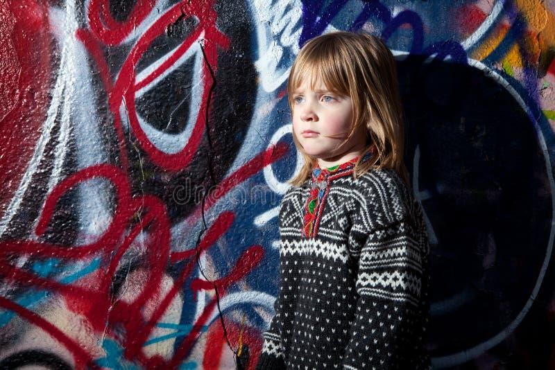 Art. van de het kind het koele straat van Graffiti royalty-vrije stock afbeeldingen