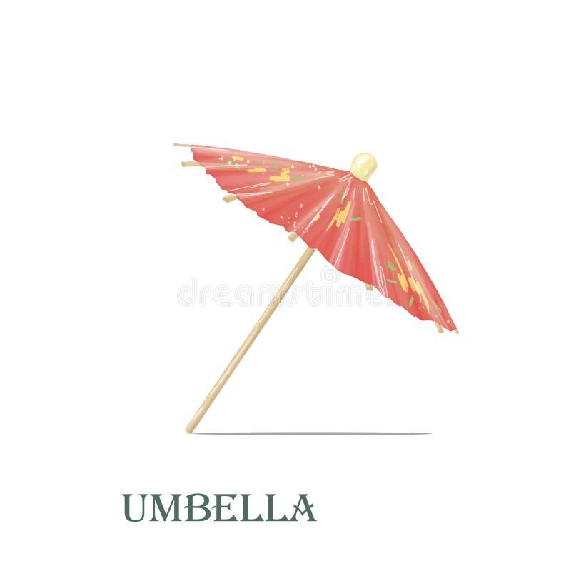 Art. van de paraplu het digitale klem royalty-vrije illustratie