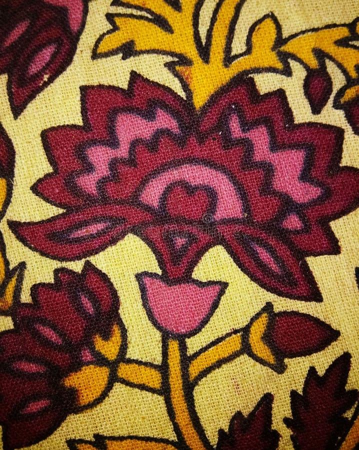 Art. van het bloemen het Geweven patroon royalty-vrije stock afbeeldingen