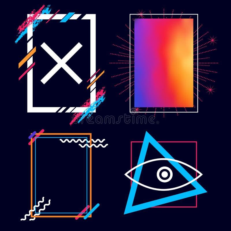 Art Vector Frames moderno Insieme di elementi di progettazione di vettore per voi progettazione illustrazione vettoriale