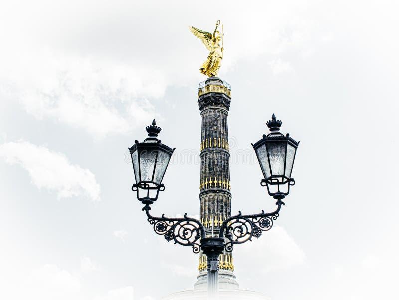 Art view of the golden angel of the Berlin Victory Column. A art view of the golden angel of the Berlin Victory Column stock images