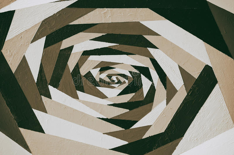 Art vintage geometric ornamental monochrome pattern in sepia, acrylic hand painted graffiti with texture. For modern stock photos
